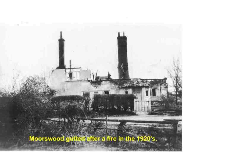 Moorswood after fire